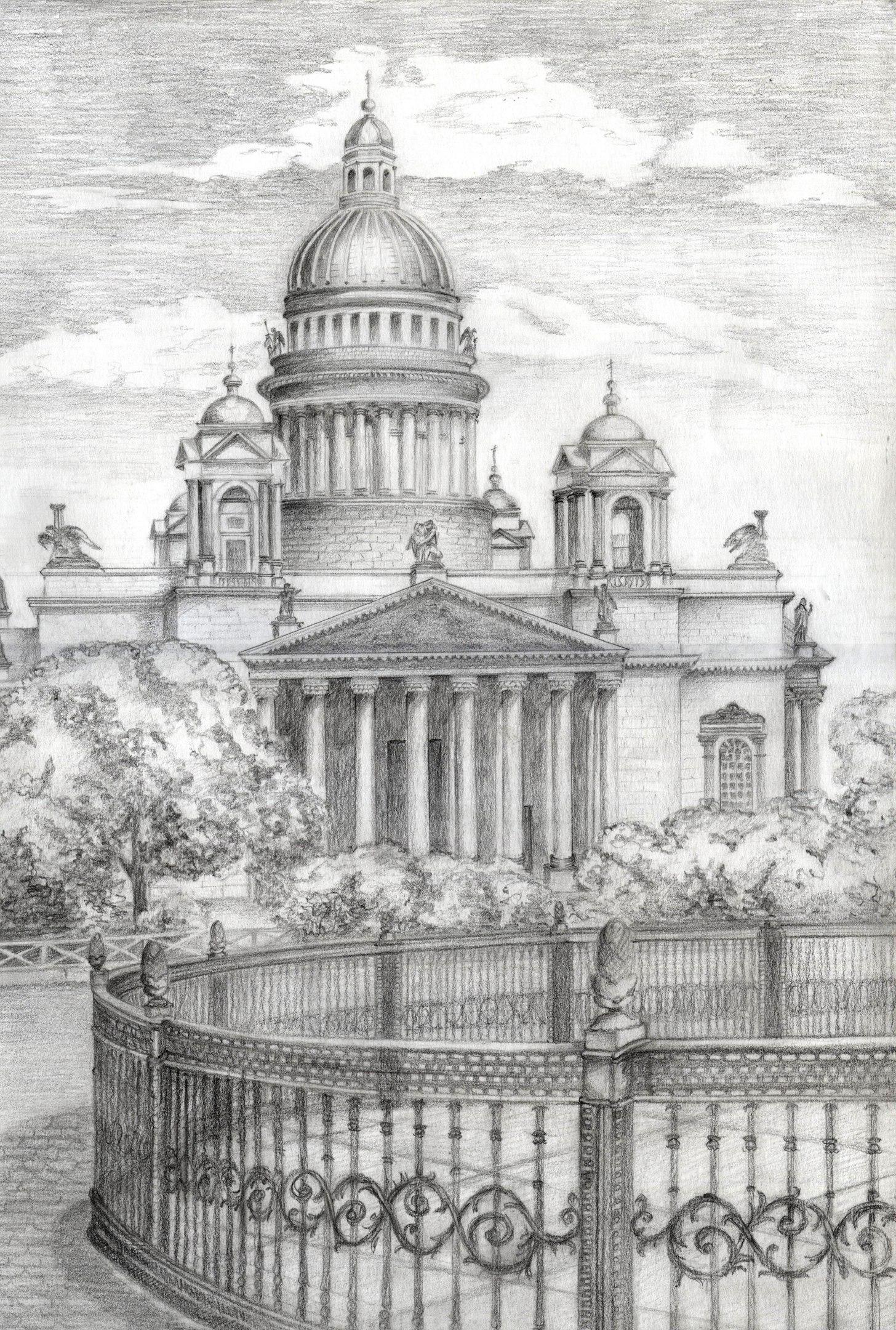 картинки санкт-петербурга хорошего качества карандашом голубоглазые