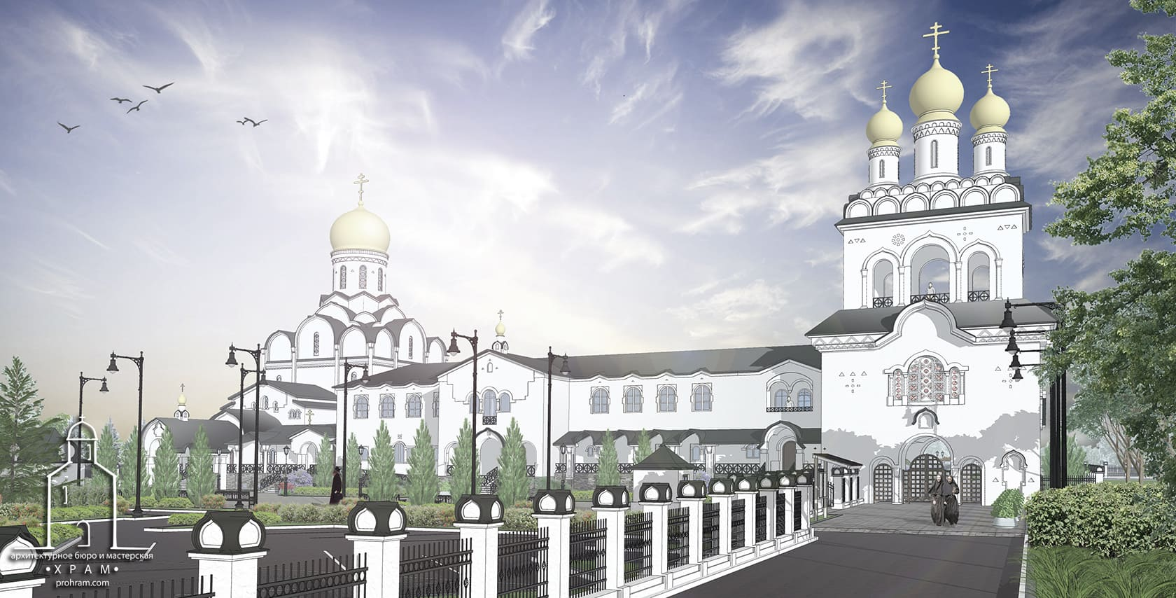 Project of restoration of the Holy Iveron Convent, project of restoration, orthodox church project, sacred architecture