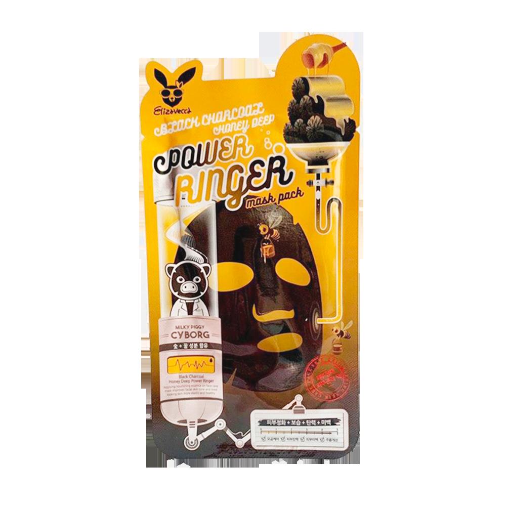 Купить Elizavecca Black Charcoal Honey Deep Power Ringer Mask Pack, ELC046