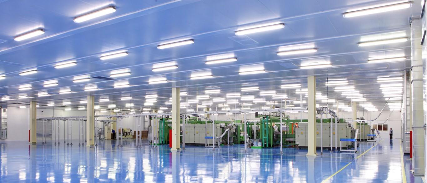 Промышленное светодиодное освещение.