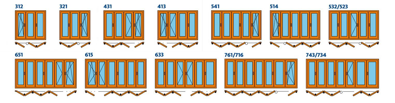 складные двери, двери-гармошка