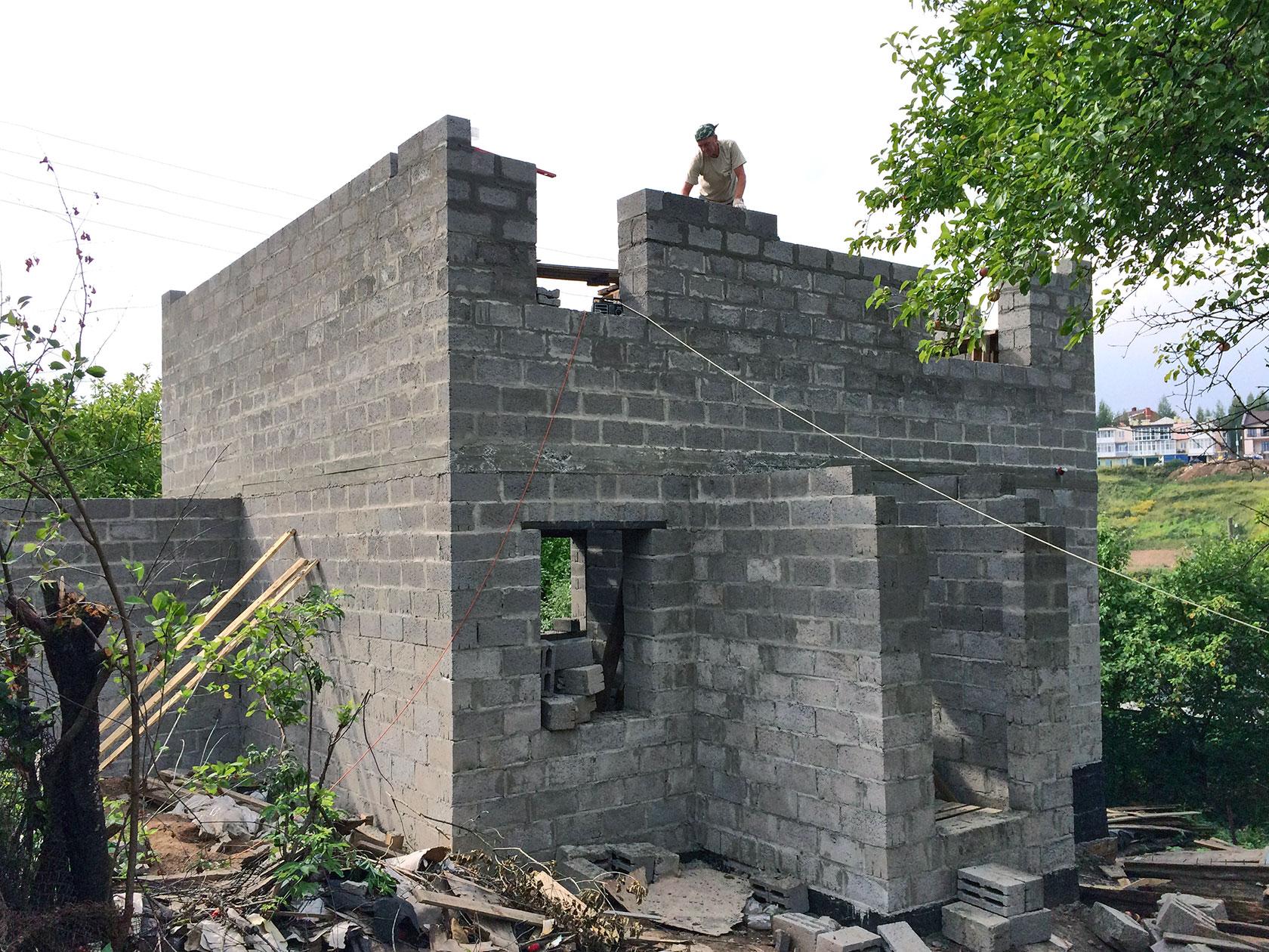 Как правильно строить дом из керамзитоблоков фото