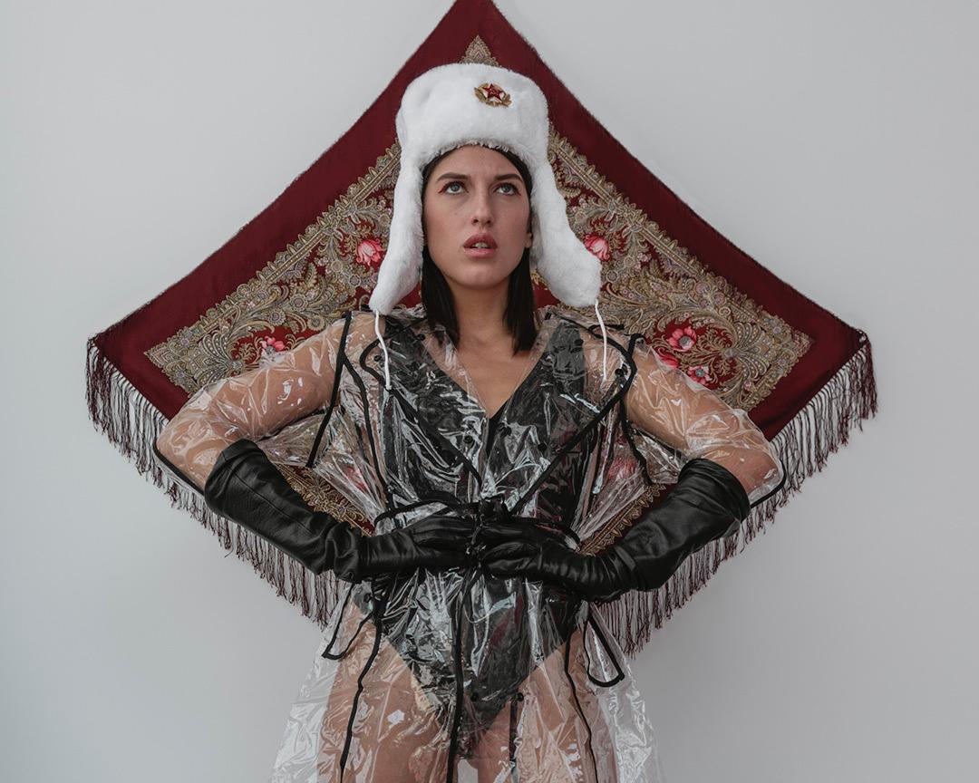 Russian babushka scarf, Russian model, freelance photographer leyla may