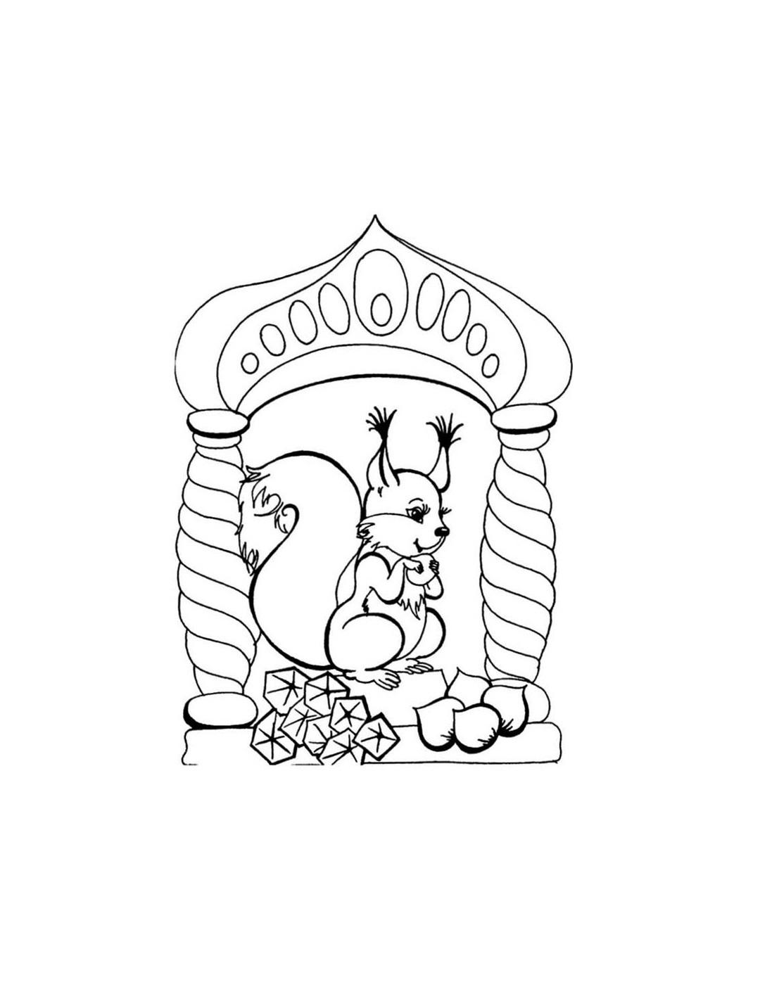 Белка из сказки о царе салтане картинки нарисовать