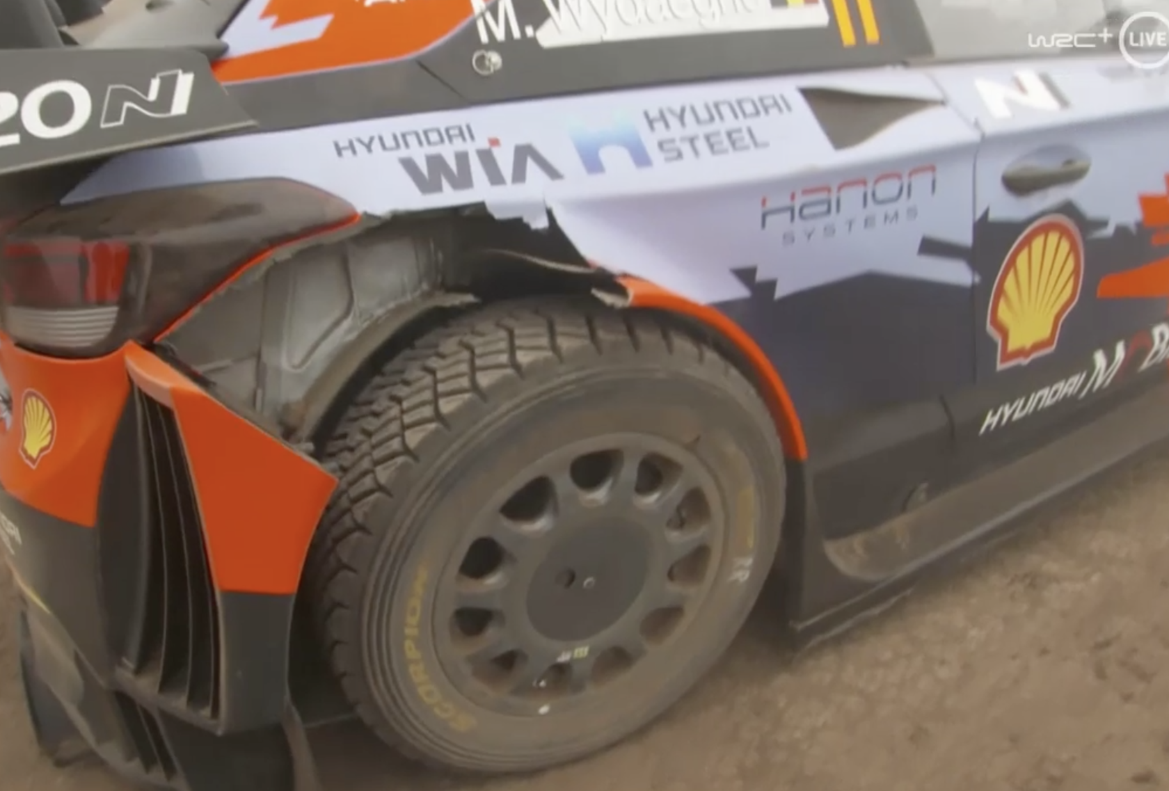 Hyundai i20 Coupe WRC Тьерри Невилля на финише СУ14, ралли Сафари 2021