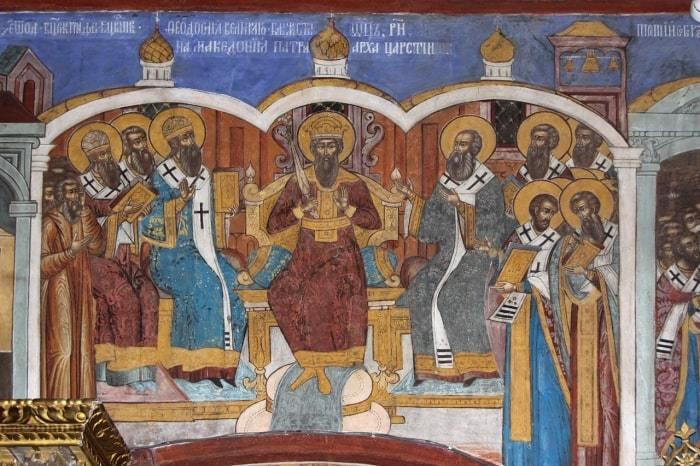 II Вселенский собор. Фреска Воскресенского собора в Тутаеве