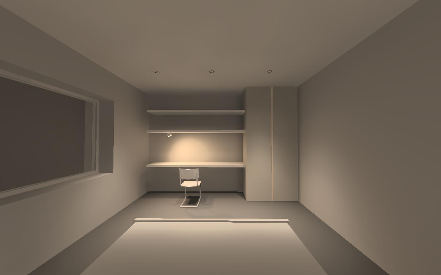 Визуализация освещения. Мастер-спальня