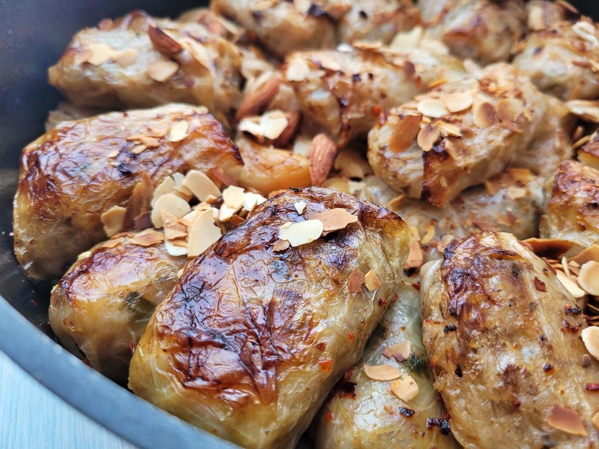 Голубцы в духовке в соусе из яблок и пива. Израильская кухня, Иля Антеби.