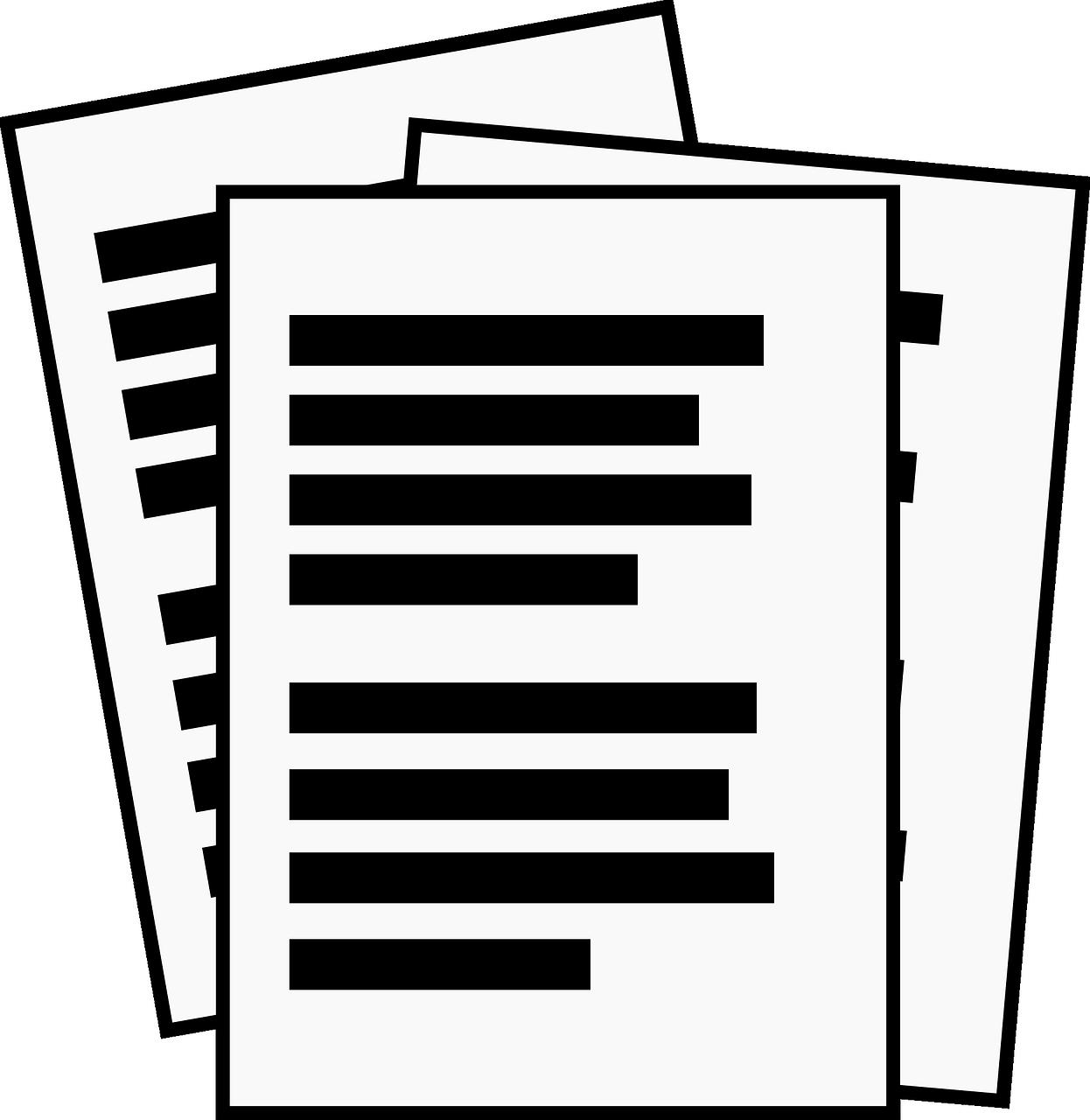 Картинки по контуру документы